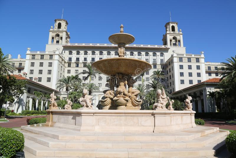 Το ιστορικό ξενοδοχείο του Palm Beach διακοπτών στοκ εικόνα με δικαίωμα ελεύθερης χρήσης