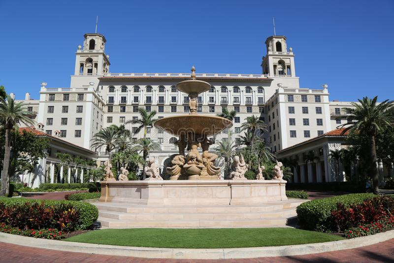 Το ιστορικό ξενοδοχείο του Palm Beach διακοπτών στοκ εικόνες
