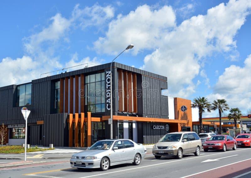 Το ιστορικό ξενοδοχείο του Carlton ανοίγει πάλι στο δρόμο Papanui, Christchurch. στοκ φωτογραφίες