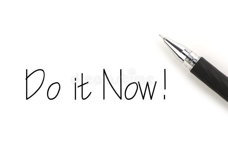 Το κάνετε τώρα! στοκ φωτογραφίες