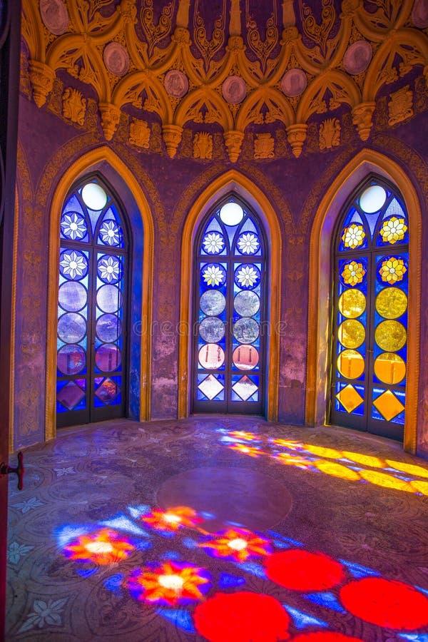 Το κάστρο καπετάνιου ` s, εσωτερικό, στη βίλα Durazzo- Pallavicini στη Γένοβα Pegli, Ιταλία στοκ φωτογραφίες με δικαίωμα ελεύθερης χρήσης