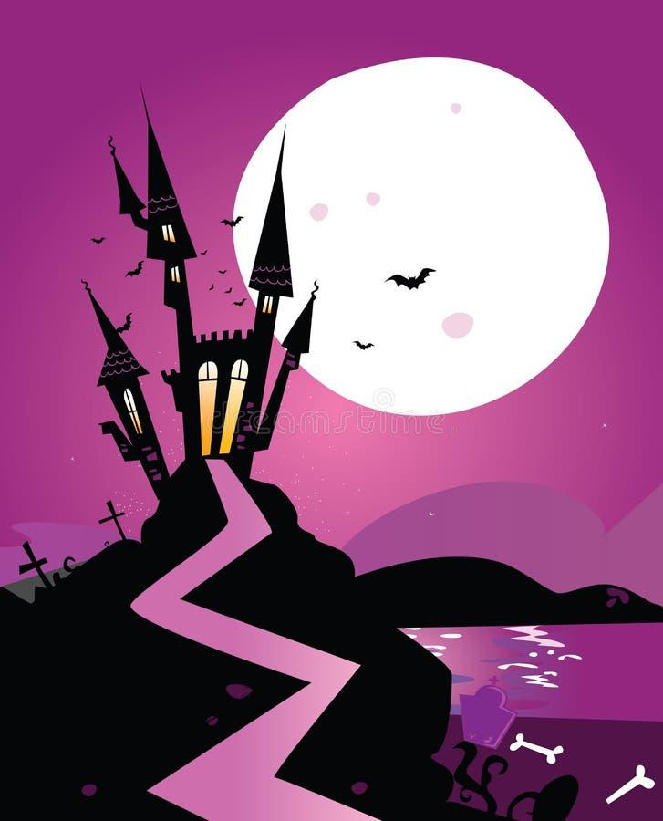 το κάστρο σύχνασε scary ελεύθερη απεικόνιση δικαιώματος