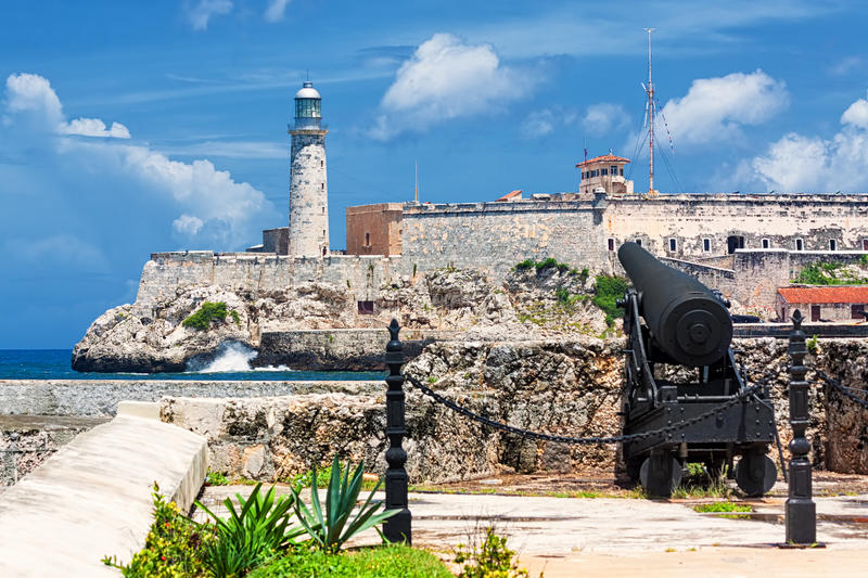 Το κάστρο της EL Morro στην Αβάνα στοκ εικόνες