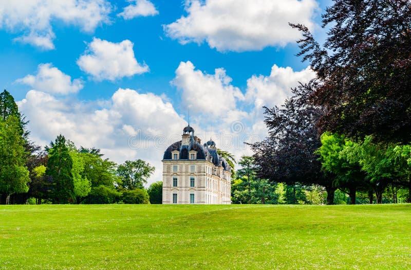 Το κάστρο Cheverny στην περιοχή κοιλάδων της Loire στη Γαλλία στοκ εικόνα