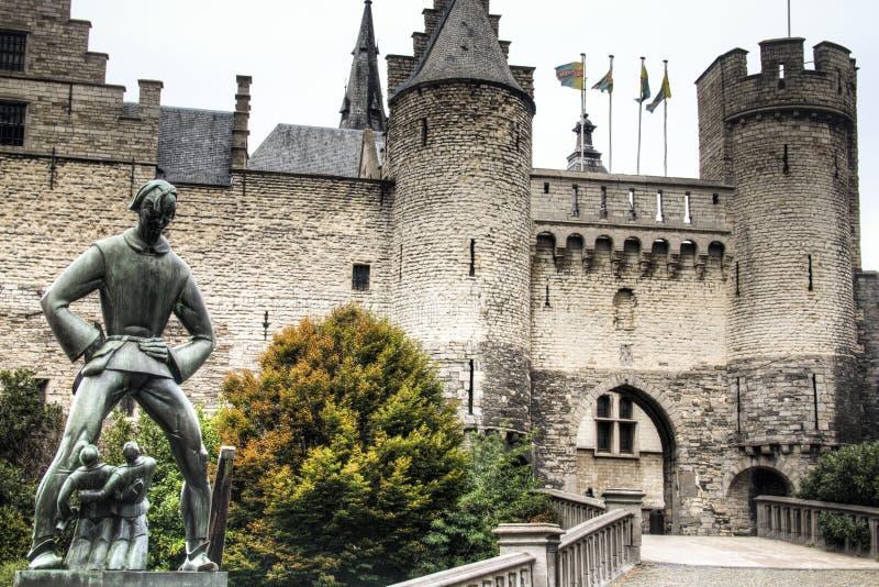 Το κάστρο STEEN στην Αμβέρσα στοκ εικόνα