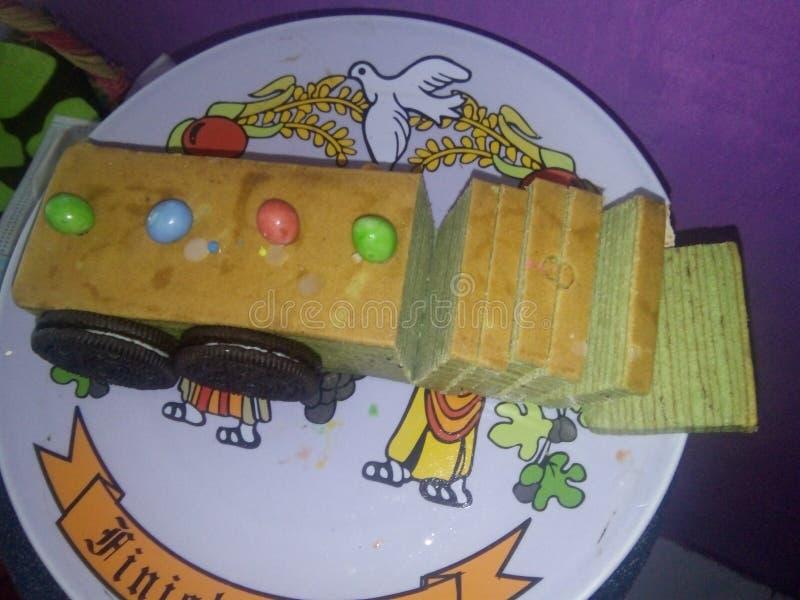 Το κέικ τραίνων στοκ εικόνα