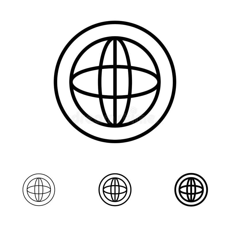 Το κέντρο, επικοινωνία, σφαιρική, βοηθά, υποστηρίζει το τολμηρό και λεπτό μαύρο σύνολο εικονιδίων γραμμών διανυσματική απεικόνιση