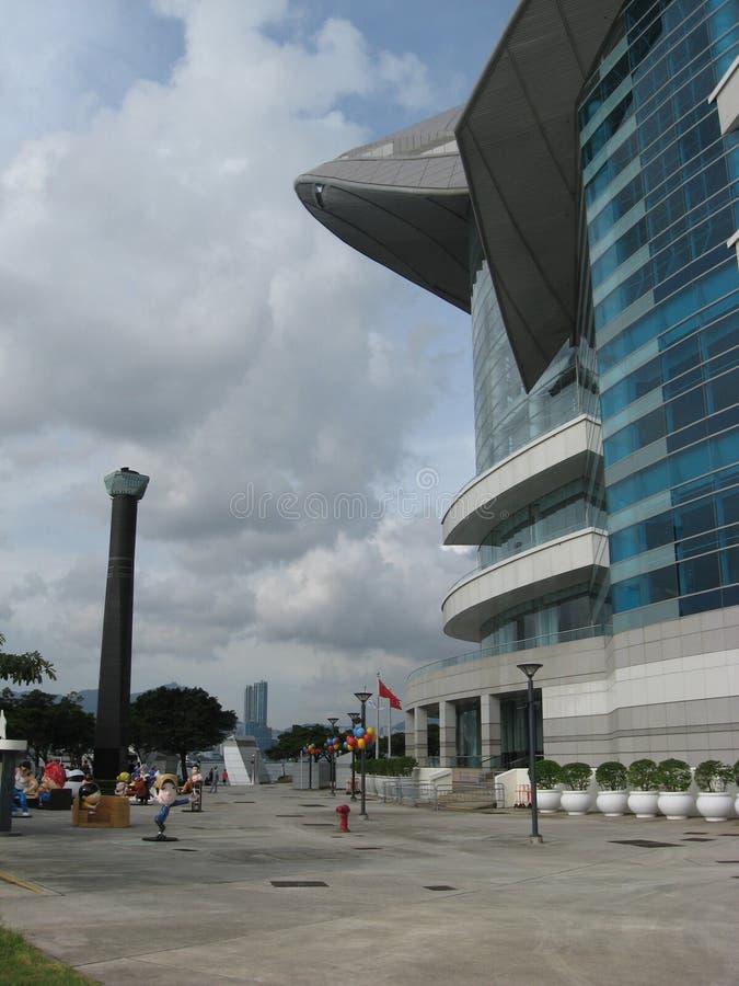 Το κέντρο Συνθηκών & έκθεσης, Χονγκ Κονγκ στοκ φωτογραφία