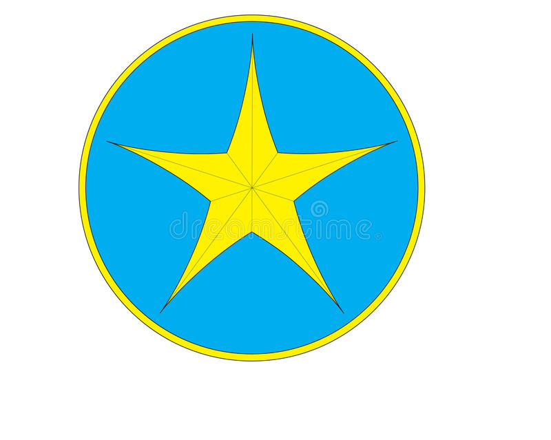 Το κίτρινο λογότυπο αστεριών στοκ φωτογραφίες με δικαίωμα ελεύθερης χρήσης