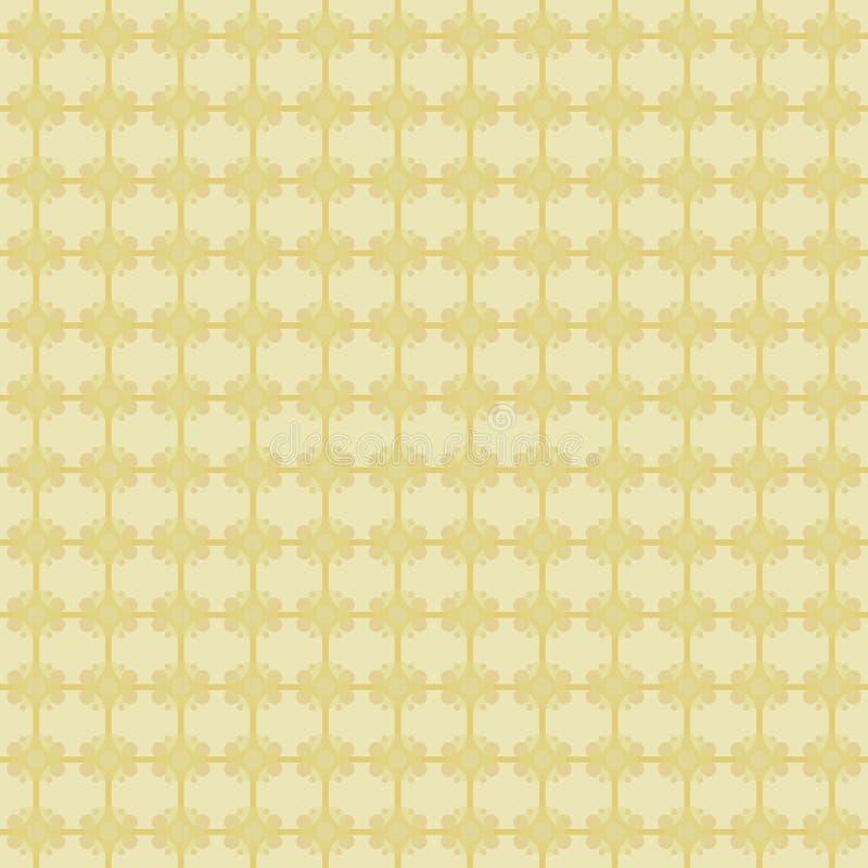 Το κίτρινο υπόβαθρο τακτοποιεί άνευ ραφής διανυσματικό σχέδιο σχεδίων υφασμάτων μωσαϊκών το αφηρημένο χρυσό διανυσματική απεικόνιση