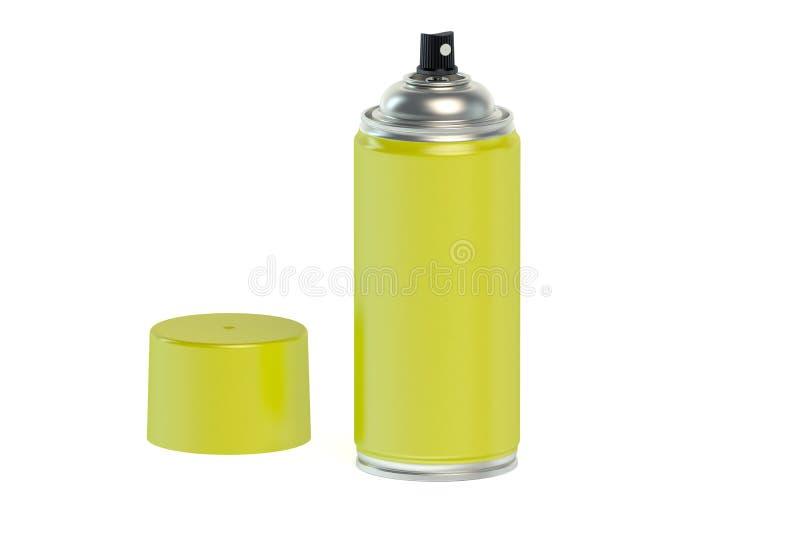 Το κίτρινο χρώμα ψεκασμού μπορεί ελεύθερη απεικόνιση δικαιώματος
