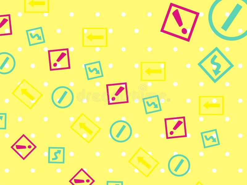 Το κίτρινο polcadot και ενημερώνει την ταπετσαρία απεικόνιση αποθεμάτων