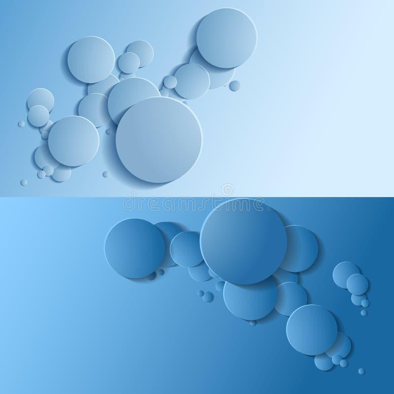 Το καθορισμένο αφηρημένο υπόβαθρο είναι παρόμοιο με τις φυσαλίδες διάνυσμα απεικόνιση αποθεμάτων
