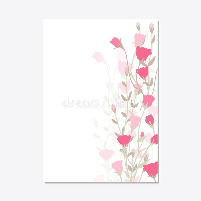 Το καθορισμένο floral πρότυπο καρτών διακοσμήσεων αφήνει το floral πλαίσιο ελεύθερη απεικόνιση δικαιώματος