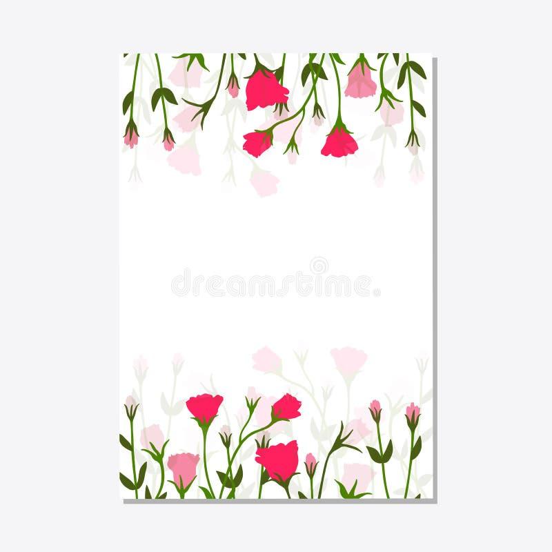 Το καθορισμένο floral πρότυπο καρτών διακοσμήσεων αφήνει το floral πλαίσιο απεικόνιση αποθεμάτων
