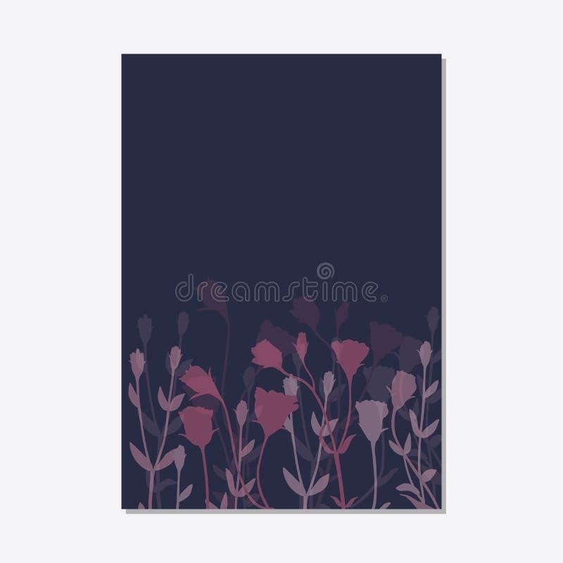 Το καθορισμένο floral πρότυπο καρτών διακοσμήσεων αφήνει το floral πλαίσιο διανυσματική απεικόνιση