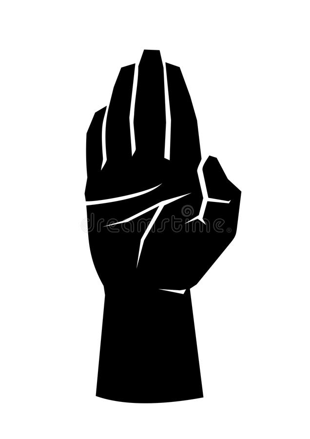το κακό ψεύτικο χέρι χειρονομίας σημαίνει το αριθ στοκ εικόνες