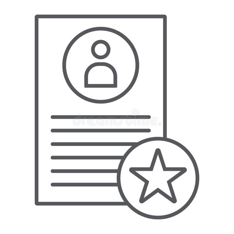 Το καλύτερο εικονίδιο, η εργασία και η στρατολόγηση γραμμών προτάσεων  ελεύθερη απεικόνιση δικαιώματος