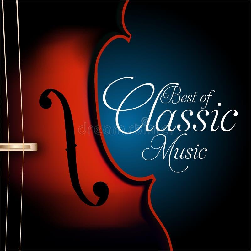 Το καλύτερο της κλασικής μουσικής διανυσματική απεικόνιση