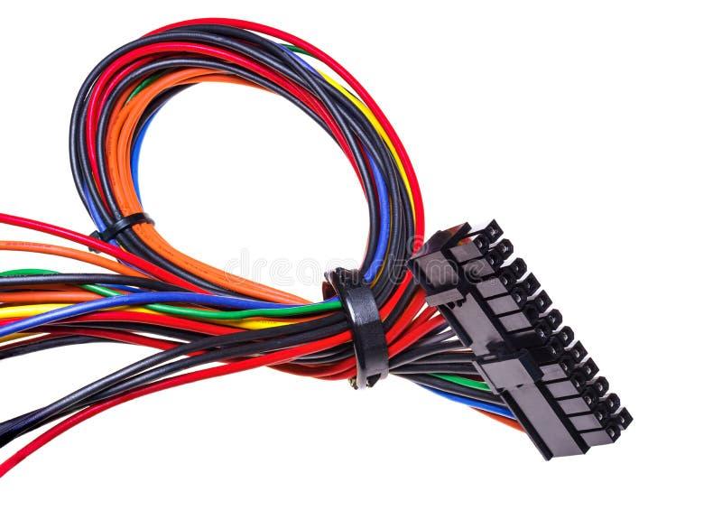 Το καλώδιο από τη μονάδα παροχής ηλεκτρικού ρεύματος για το PC στοκ φωτογραφίες με δικαίωμα ελεύθερης χρήσης