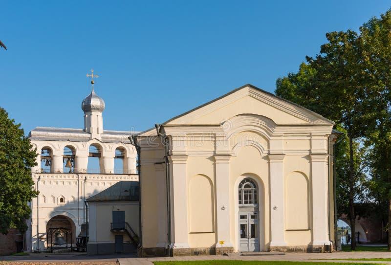 Το καμπαναριό του καθεδρικού ναού του ST Sophia στο Novgorod Κρεμλίνο, Ρωσία στοκ φωτογραφίες με δικαίωμα ελεύθερης χρήσης