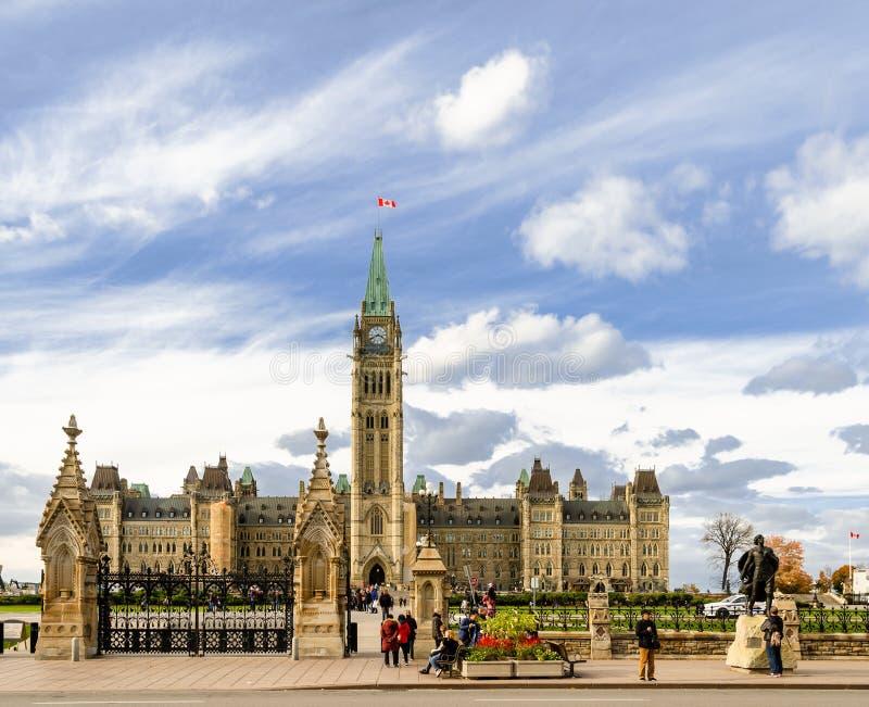 Το καναδικό Κοινοβούλιο στην Οττάβα, Καναδάς στοκ εικόνες