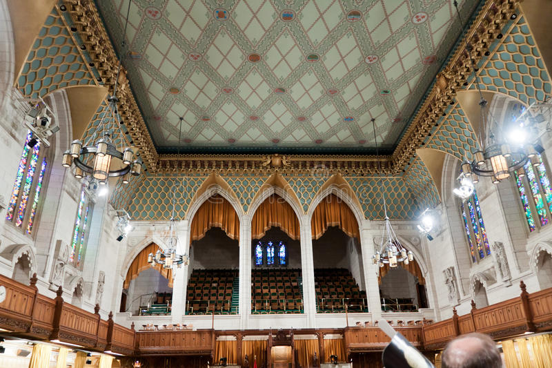 Το καναδικό Κοινοβούλιο: η Βουλή των Κοινοτήτων στοκ εικόνες