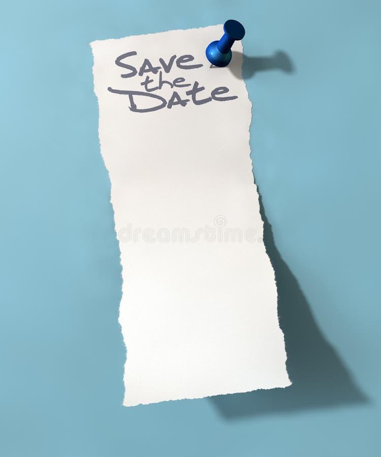 Το καρφωμένο έγγραφο σώζει την ημερομηνία στοκ εικόνες με δικαίωμα ελεύθερης χρήσης
