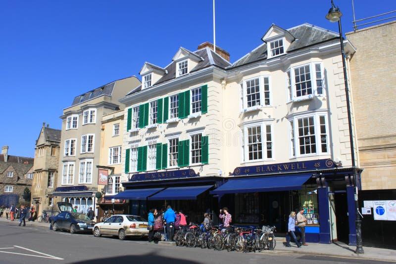 Το κατάστημα βιβλίων του διάσημου Blackwell Οξφόρδη, Αγγλία στοκ φωτογραφία με δικαίωμα ελεύθερης χρήσης