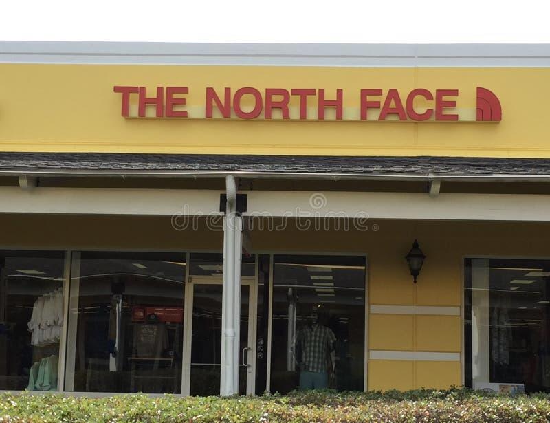 Το κατάστημα ενδυμασίας βόρειου προσώπου στοκ εικόνα
