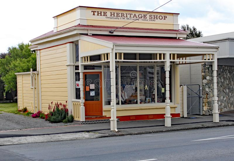Το κατάστημα κληρονομιάς στο κύριο τετράγωνο στο martinborough, Νέα Ζηλανδία στοκ φωτογραφίες με δικαίωμα ελεύθερης χρήσης