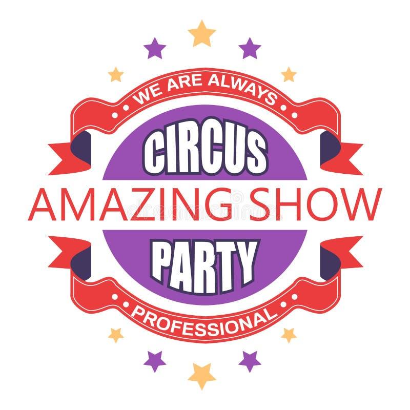 Το καταπληκτικό τσίρκο παρουσιάζει και απομονωμένοι κόμμα καλλιτέχνες και ζώα εικονιδίων ελεύθερη απεικόνιση δικαιώματος
