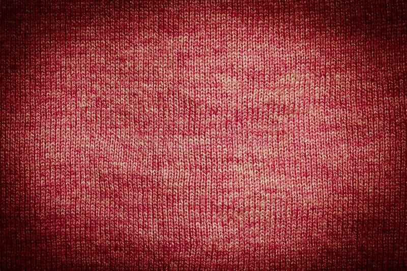 το καφετί σκοτεινό ύφασμα έπλεξε την κόκκινη σύσταση στοκ εικόνες με δικαίωμα ελεύθερης χρήσης