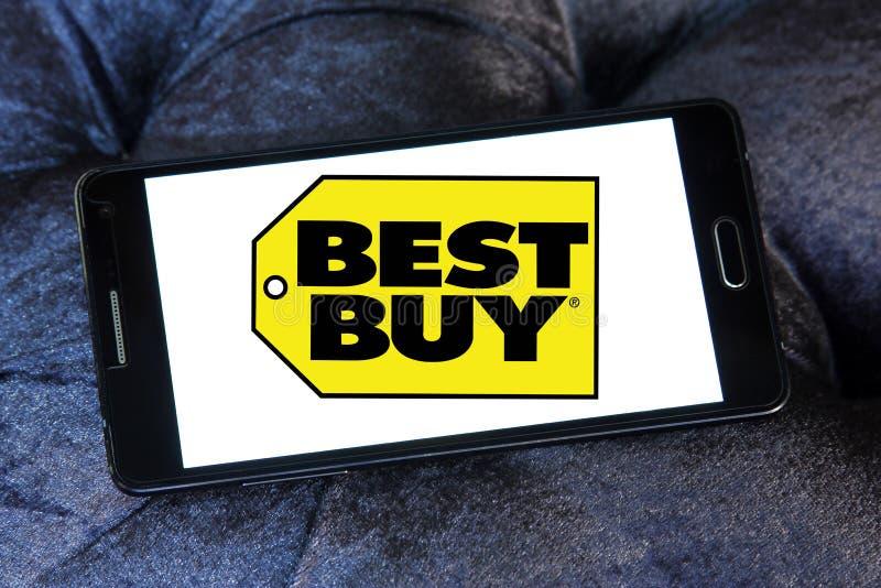 Το καλύτερο αγοράζει το λογότυπο καταστημάτων στοκ εικόνες