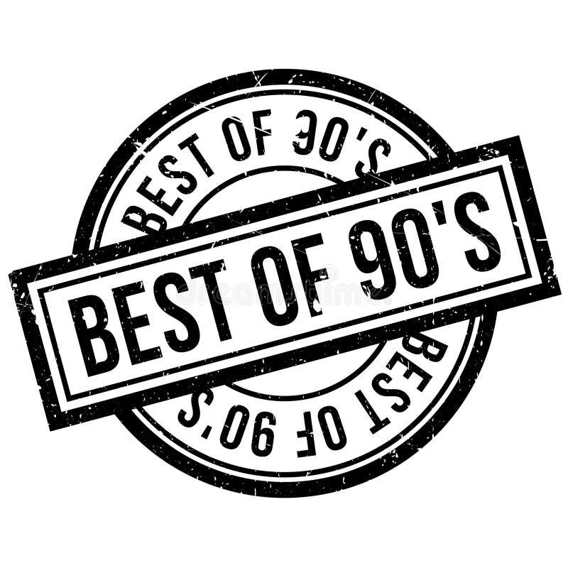Το καλύτερο της σφραγίδας 90 ` S διανυσματική απεικόνιση