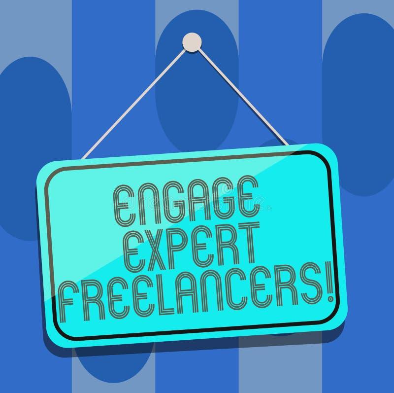 Το κείμενο γραφής δεσμεύει ειδικό Freelancers Η έννοια που σημαίνει μισθώνοντας τους ειδικευμένους αναδόχους λειτουργεί για μια σ απεικόνιση αποθεμάτων