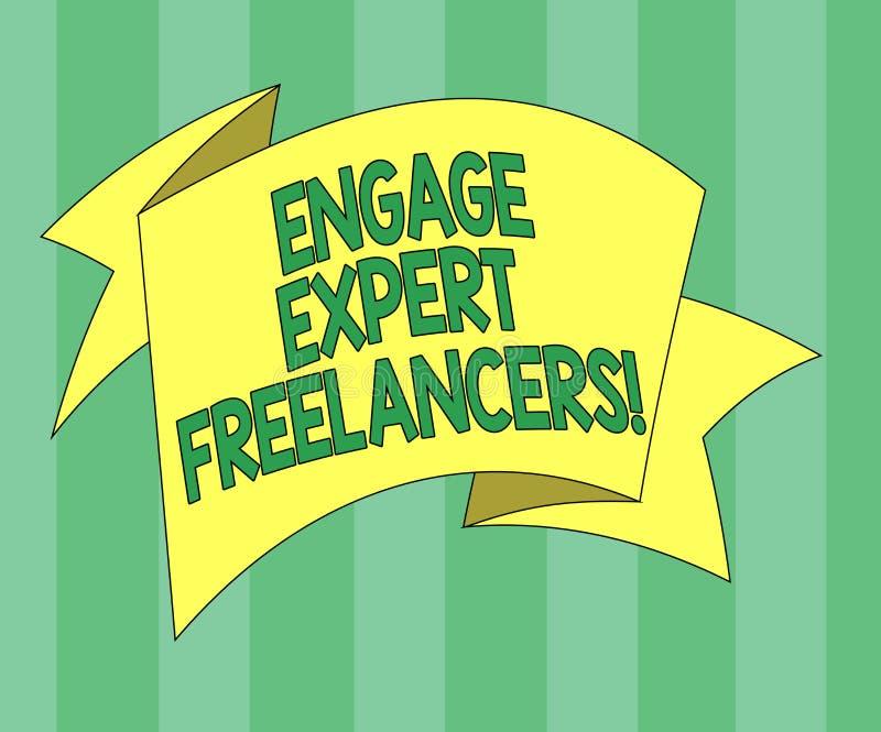 Το κείμενο γραφής δεσμεύει ειδικό Freelancers Η έννοια που σημαίνει μισθώνοντας τους ειδικευμένους αναδόχους λειτουργεί για μια σ ελεύθερη απεικόνιση δικαιώματος