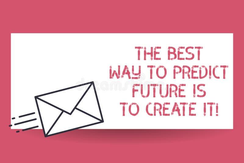 Το κείμενο γραφής ο καλύτερος τρόπος να προβλεφθεί το μέλλον πρόκειται να το δημιουργήσει Έννοια που σημαίνει δημιουργώντας τη γρ ελεύθερη απεικόνιση δικαιώματος