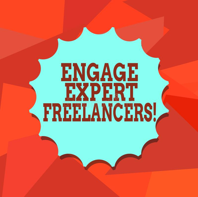 Το κείμενο γραψίματος λέξης δεσμεύει ειδικό Freelancers Η επιχειρησιακή έννοια για τη μίσθωση των ειδικευμένων αναδόχων λειτουργε ελεύθερη απεικόνιση δικαιώματος