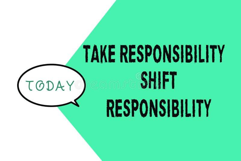 Το κείμενο γραψίματος λέξης παίρνει την ευθύνη μετατόπισης ευθύνης Η επιχειρησιακή έννοια για είναι ωριμασμένη παίρνει την υποχρέ απεικόνιση αποθεμάτων