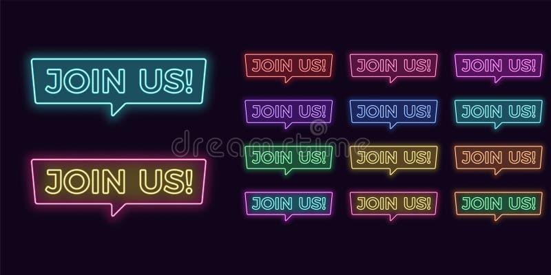 Το κείμενο νέου μας ενώνει, εκφραστική πινακίδα νέου τίτλου διανυσματική απεικόνιση
