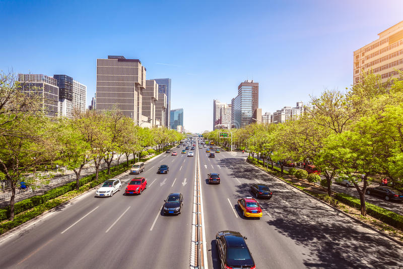Το κεντρικό εμπορικό κέντρο στο Πεκίνο, Κίνα στοκ φωτογραφία με δικαίωμα ελεύθερης χρήσης