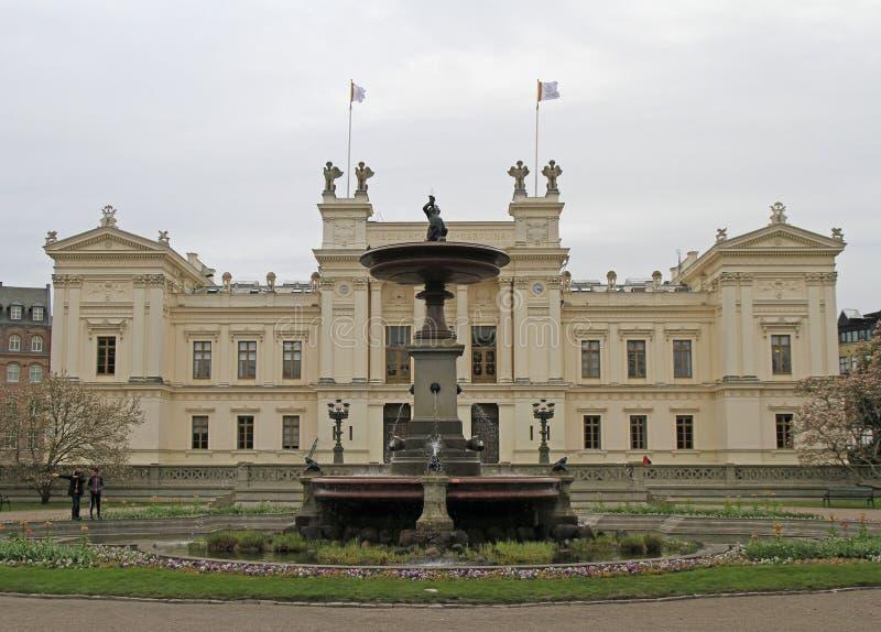 Το κεντρικό κτίριο του πανεπιστημίου του Lund, Σουηδία στοκ εικόνα με δικαίωμα ελεύθερης χρήσης