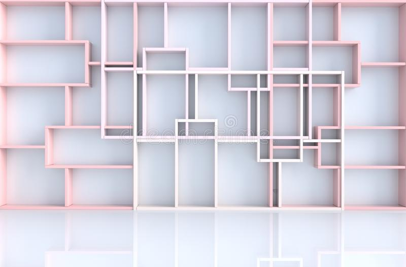 Το κενό άσπρο δωμάτιο τρισδιάστατο δίνει απεικόνιση αποθεμάτων