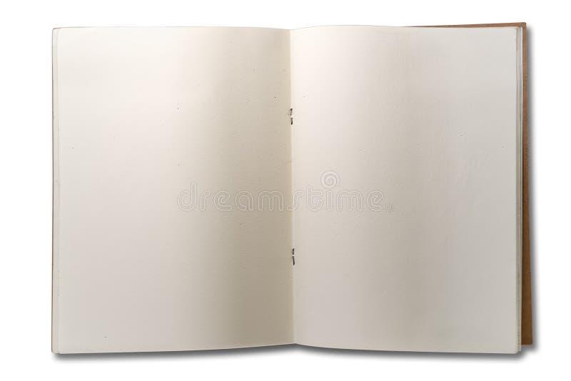 Το κενό ανοίγει το βιβλίο σημειώσεων δύο σελίδων στοκ εικόνες