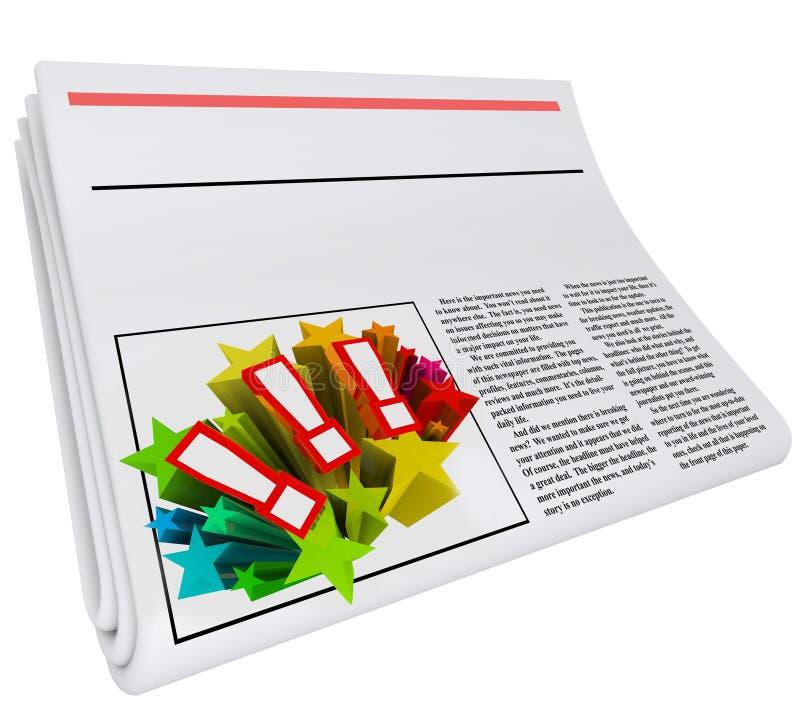 Το κενό αντίγραφο άρθρων εφημερίδων τίτλων χωρίζει κατά διαστήματα τις ειδήσεις σας απεικόνιση αποθεμάτων