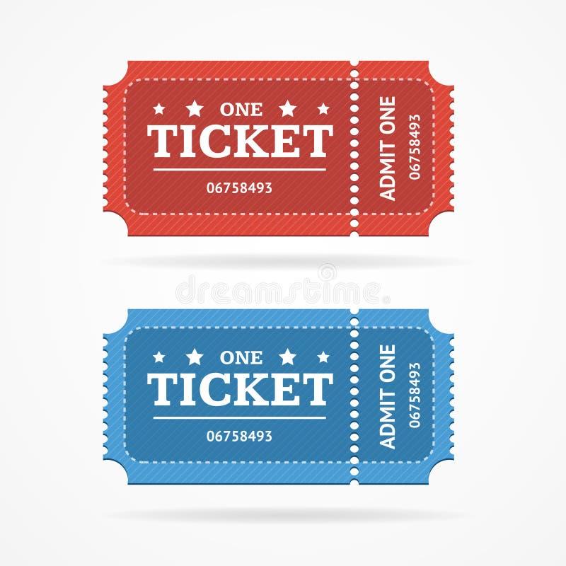 Το κενό εικονιδίων εισιτηρίων αναγνωρίζει το καθορισμένο αναδρομικό παλαιό ύφος διάνυσμα απεικόνιση αποθεμάτων