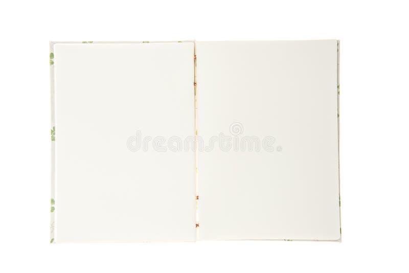 Το κενό χειροποίητο σημειωματάριο απομονώνει στο άσπρο υπόβαθρο στοκ εικόνες
