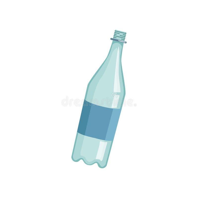Το κενό lastic μπουκάλι, έννοια απορριμάτων ανακύκλωσης, χρησιμοποιεί τη διανυσματική απεικόνιση αποβλήτων σε ένα άσπρο υπόβαθρο διανυσματική απεικόνιση