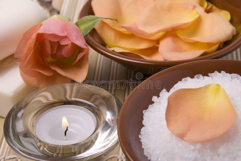 το κερί λουτρών εξαρτημάτ&omeg στοκ εικόνες